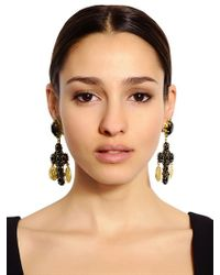 Dolce & Gabbana | Black Cross Clip Earrings | Lyst