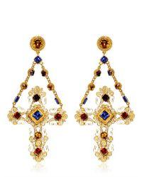 Dolce & Gabbana | Metallic Cross Clip Earrings | Lyst