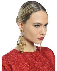 Dolce & Gabbana - Metallic Cross Clip Earrings - Lyst