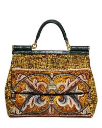 Dolce & Gabbana | Multicolor Flower Embroidered Miss Sicily Bag | Lyst