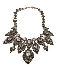 Erickson Beamon | Metallic Large Antiqued Rhinestone Necklace | Lyst