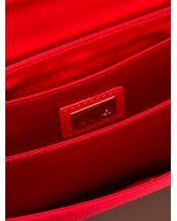 Fendi - Red Logo Detail Clutch - Lyst