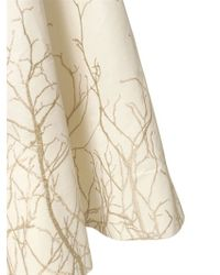 Gareth Pugh - White Embroidered Silk Cotton Faille Skirt - Lyst