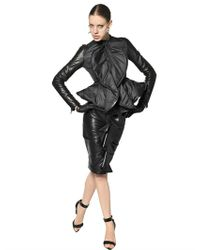 Givenchy | Black Ruffled Plongé Nappa Leather Skirt | Lyst