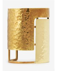 Lanvin | Metallic Hammered Gold-tone Cuff | Lyst