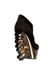 Le Silla - Black 150mm Suede Butterfly Wedges - Lyst