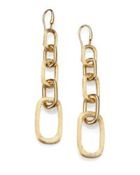 Marco Bicego | Metallic Murano 18k Yellow Gold Graduated Link Drop Earrings | Lyst