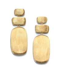 Marco Bicego | Metallic Murano 18k Yellow Gold Rectangle Triple-drop Earrings | Lyst