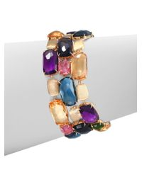 Marco Bicego | Multicolor Semiprecious Multistone Threerow Bracelet | Lyst