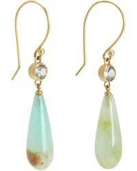 Monique Péan - Yellow Sapphire Opal Cone Earrings - Lyst
