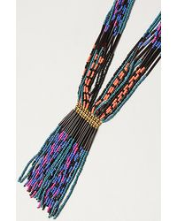 Obey | Blue The Mystic Chain Beaded Necklace | Lyst