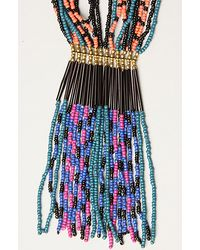 Obey - Blue The Mystic Chain Beaded Necklace - Lyst