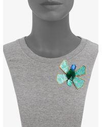 Oscar de la Renta | Multicolor Bright Butterfly Brooch | Lyst