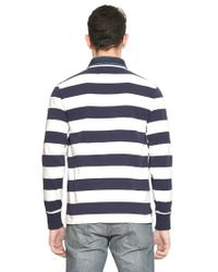 Ralph Lauren Blue Label - Blue Cotton Jersey Denim Collar Rugby Shirt for Men - Lyst
