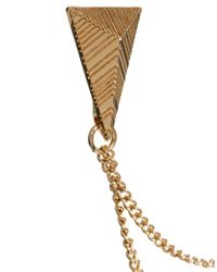 River Island - Metallic Triangle Chain Collar Tips for Men - Lyst