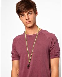 River Island - Green Whistle Necklace for Men - Lyst