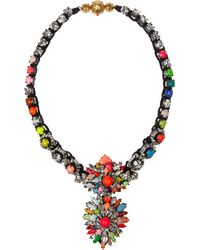 Shourouk | Metallic Cora Zambia Swarovski Crystal Necklace | Lyst