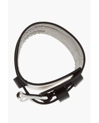 DSquared² | Black Leather Double Band Belted Bracelet for Men | Lyst