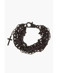 DSquared² - Black Matte Coated Multi Chain Bracelet for Men - Lyst