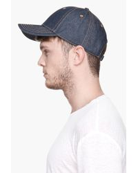 Kris Van Assche   Indigo Blue Cotton Denim Cap for Men   Lyst