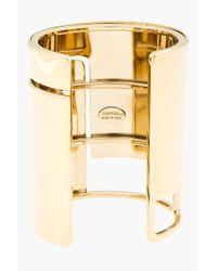 Lanvin - Metallic Gold Geometric Cut out Cuff - Lyst