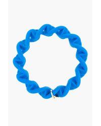 Marc By Marc Jacobs - Electric Blue Haute Mess Rubber Turnlock Key Bracelet - Lyst