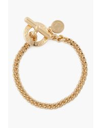 Marc By Marc Jacobs - Metallic Gold Toggles and Turnlocks Mini Toggle Bracelet - Lyst
