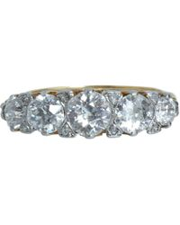 Olivia Collings - White Five Old Cut Diamond Ring - Lyst