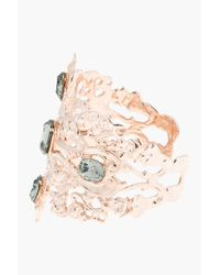 Tom Binns - Pink Rose Gold and Black Crystal Roccoco Dumont Cuffs - Lyst