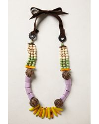 Anthropologie | Black Tagua Talisman Necklace | Lyst