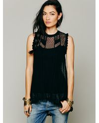 Free People | Black 'heat Wave' Embellished Tunic | Lyst