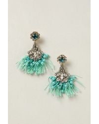 Rada' - Green Melusina Tassel Earrings - Lyst