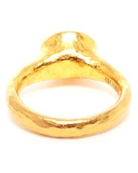 Ram - Metallic Hammered Gold and Spinel Ring - Lyst