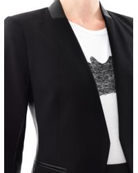Theory | Black Lanai Leather Trimmed Blazer for Men | Lyst