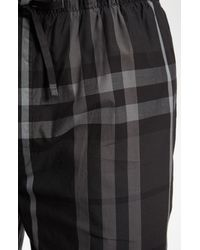 Burberry | Gray Check Cotton Pajama Pants for Men | Lyst