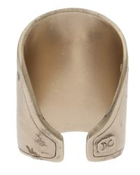 Delphine Charlotte Parmentier - Metallic Gold Plated Geometric Ring - Lyst