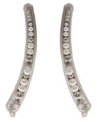 Delphine Charlotte Parmentier - Metallic Palladium Pearl Earrings - Lyst