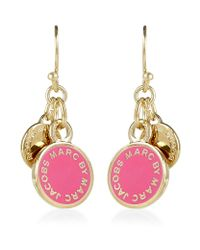 Marc By Marc Jacobs - Pink Enamel Disc Earrings - Lyst