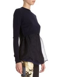 Acne | Women's Daze Mohair Off-the-shoulder Sweater In Smokey Blue | Lyst