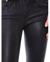 Helmut Lang - Purple Coated Midrise Skinny Jeans - Lyst