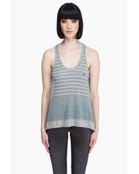 Juicy Couture Gray Variegated Stripe Tank in Heather Grey/antique Patina