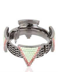 Mawi | Metallic Deco Glam Triangle Cuff | Lyst
