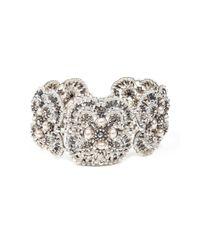 Nicole Miller | Metallic Miguel Ases Pearl Floral Bracelet | Lyst