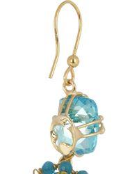 Rosantica - Blue Stupendo Gold-Dipped Aquamarine Drop Earrings - Lyst