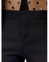 Saint Laurent - Black Gabardine Skinny Tux Trousers - Lyst