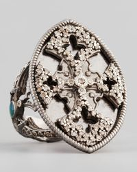 Armenta | Metallic New World Maltese Cross Shield Ring | Lyst