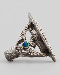 Armenta | Metallic New World Maltese Cross Shield Ring | Lyst