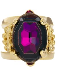 ASOS Collection - Purple Limited Edition Ornate Jewel Ring - Lyst