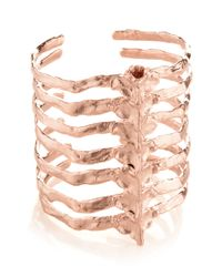 Bjorg | Pink Rose Gold Plated After Eden Cuff | Lyst