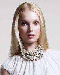 Brunello Cucinelli - White Multi Strand Opal Necklace - Lyst
